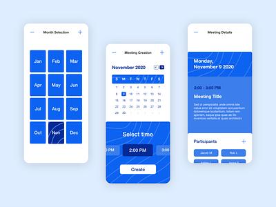 Calendar App product design branding minimal animation web app icon ux ui design
