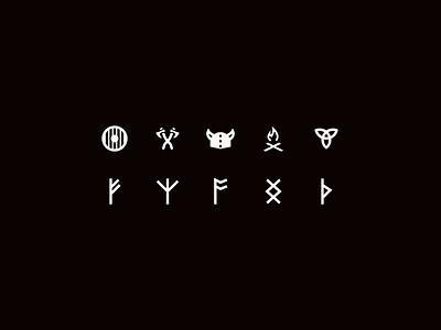 Viking Icons symbols icon pack iconset icon runes viking figma iconography icon design icon set icons