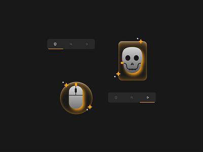 Clicked To Death motion graphics icon minimal flat vector illustration figma illustrator animation