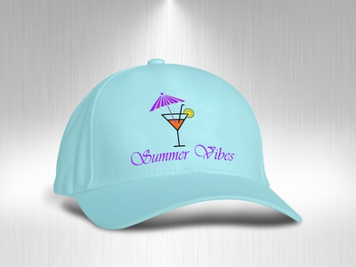 summer cap design merchandise merchandise design design logo fashion design branding vector illustrator graphic design clean