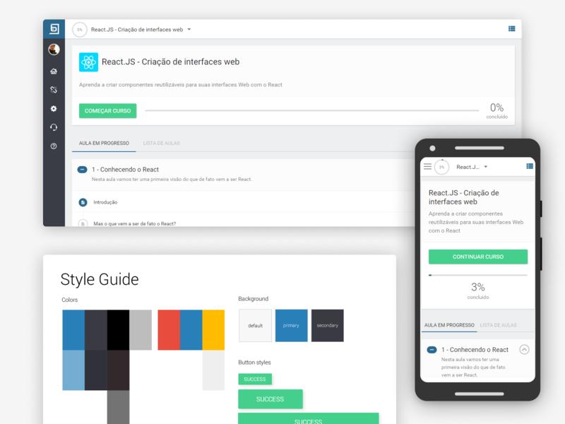 Course academy responsive design web uxui ux userinterface ui uidesign design