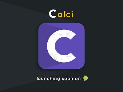 Calci - Icon Design logo design brand android purple icon app