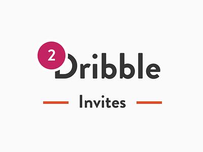 2 Dribble Invites clean invites invitations dribble