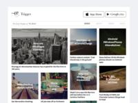 Trigger news website redesign