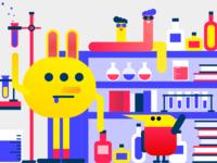Little monster in lab