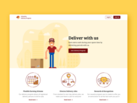 Landing page–Delivery program