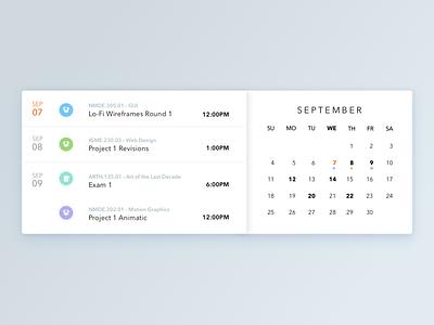 Academic Calendar academic reminder update schedule calendar