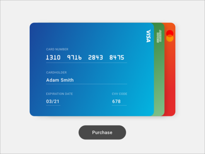 Daily UI Challenge 002 - Credit Card purchase checkout credit card ui daily