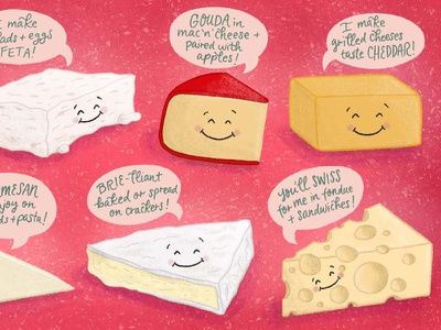 In Queso Emergency Cheese Pun Illustration 2 food and drink foodie cute food pun illustration food illustration cheese drawing pun cute illustration handdrawn illustration