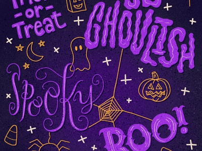 Halloween Lettering Wallpaper halloween design halloween lettering art cute illustration handlettered handdrawn lettering illustration