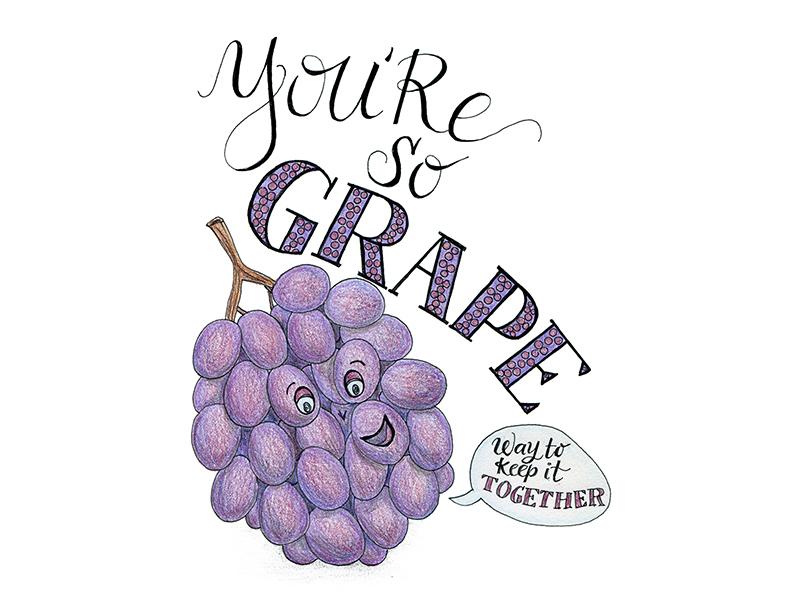 You're So Grape Fruit Pun illustration