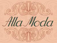 Alla Moda Italian lettering postcard