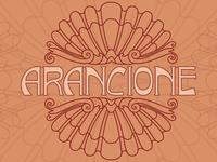 Arancione Italian lettering postcard