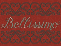Bellissimo Italian lettering postcard