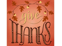 Give Thanks Lettering Illustration