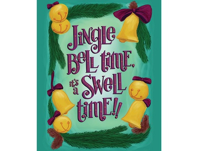 Jingle Bell Time Holiday Greeting Card