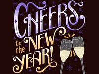 Cheers To The New Year Lettering