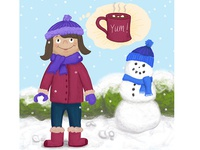 Snow Day Children's Illustration