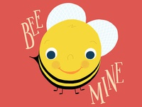 Bee Mine Bee Illustration