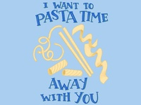 Pasta Time Pun Illustration