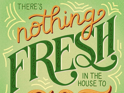 Nothing Fresh Lettering for Food Taglines