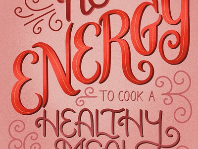 No Energy Lettering for Food Taglines
