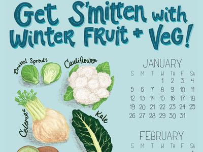 2020 Seasonal Foods Quarterly Calendar - Winter