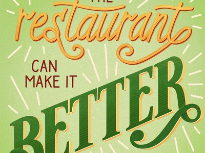 The Restaurant Can Make it Better Food Lettering