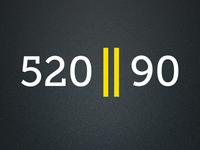 520 or 90 logo