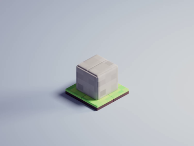 House transformation cube box transition house branding design isometric cute animation lowpoly illustration blender 3d