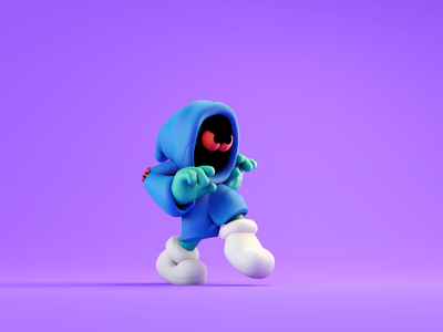 Sneaky walk cycle sneaky walkcycle 2d character design color isometric animation lowpoly illustration blender 3d