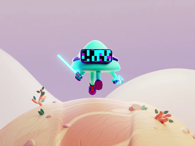 Collector ▲ render character design color isometric cute animation lowpoly illustration blender 3d