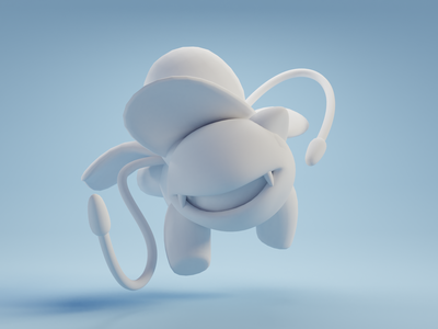 Ivysaur nintendo pokemon character design color isometric cute animation lowpoly illustration blender 3d