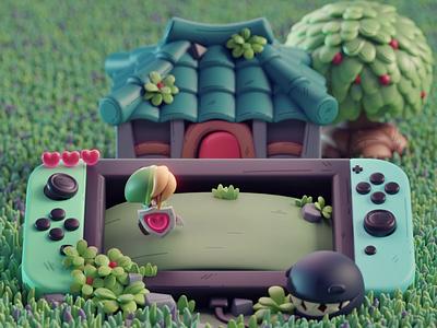 An Evolution - Zelda game nintendo zelda isometric cute animation lowpoly illustration blender 2d 3d