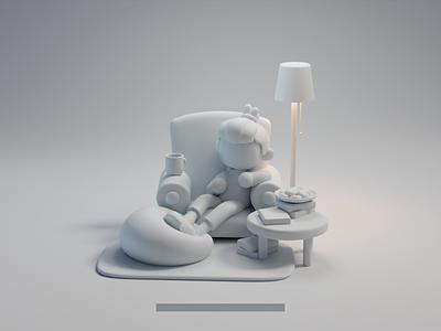 Like design isometric cute animation lowpoly illustration blender 2d 3d