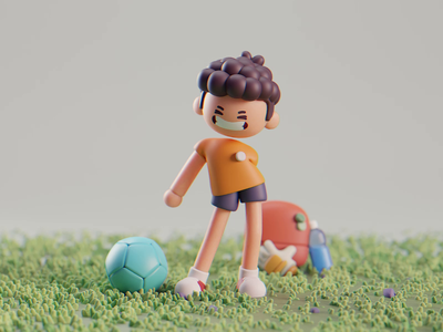 Happy Halloween halloween character design isometric cute animation lowpoly illustration blender 3d