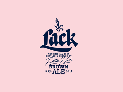 Lack design calligraphy typography branding logo lettering