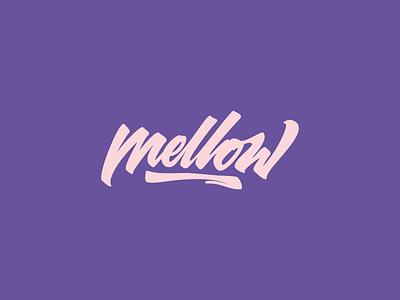 Mellow design typography calligraphy branding logo lettering