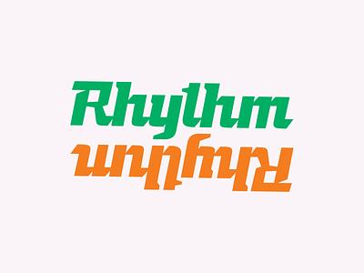 Rhythm vector typography icon branding lettering design font typeface type glyphs