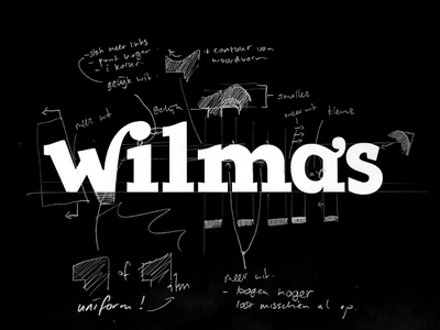 Wilma's process glyphs calligraphy font typography branding lettering design