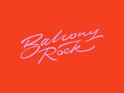 Balcony Rock lettering logo handlettering calligraphy vector typography logo lettering design