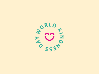 World Kindness Day illustration icon vector branding logo typography design