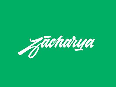 Zacharya lettering logo calligraphy lettering vector logo design