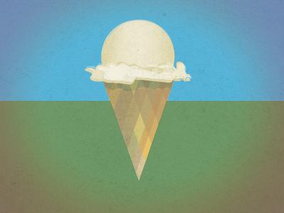 day dreamy Ice cream cone