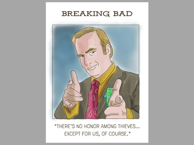 Saul from Breaking Bad trading card