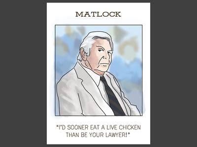 Matlock trading card