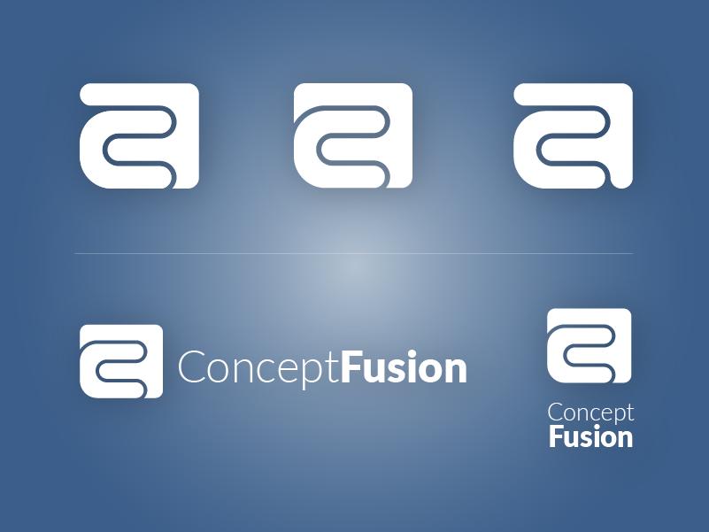 "Concept Fusion ""CF"" Lockups branding logo"