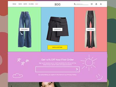 Landing Page for a Fashion Brand alternative fashion home page unif fashion branding aesthetic ui design landing page fashion