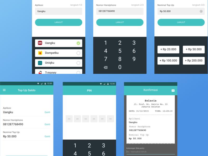 Top Up E-money app by moga on Dribbble