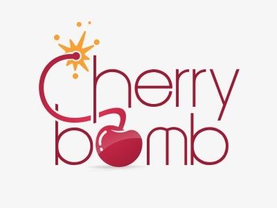 Cherry Bomb Logo  red cherry bomb logo